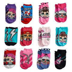 Girls 4-6x L.O.L. Surprise! 12-pack Days of Socks No-Show Socks