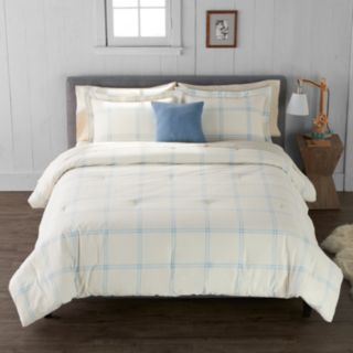 Cuddl Duds Windowpane Plaid Comforter Set