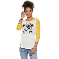 Juniors' Elephant Raglan Tee