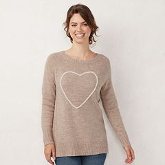 Women's LC Lauren Conrad Graphic Crewneck Tunic Sweater