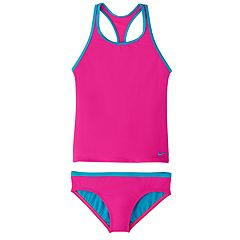 Girls 7-16 Nike Racerback Tankini Top & Bottoms Swimsuit Set