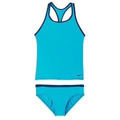 Girls 7-16 Nike Racerback Tankini Top & Bottoms Swimsuit Set