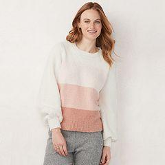 Women's LC Lauren Conrad Fuzzy Balloon-Sleeve Sweater