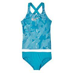 Girls 6-20 Nike Camo Crossback Tankini Top & Bottoms Swimsuit Set