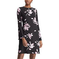 Petite Chaps Floral Bell-Sleeve Shift Dress