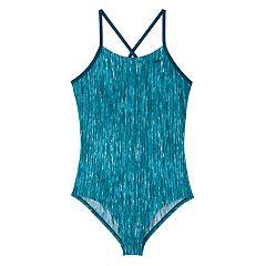 Girls 7-16 Nike Heather Crossback One-Piece Swimsuit
