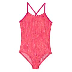 Girls 7-16 Nike Heather Crossback One-Piece Swimsuit