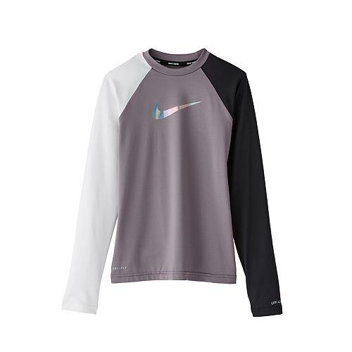 c67cbae8 Girls 6-20 Nike Long Sleeve Hydroguard Rash Guard