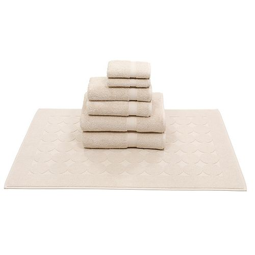 Linum Home Textiles 7-piece Turkish Cotton Sinemis Terry Bath Towel Set