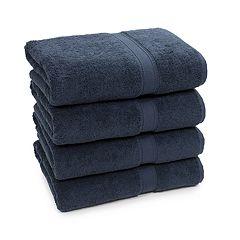 Linum Home Textiles 4-pack Turkish Cotton Sinemis Terry Bath Towel Set
