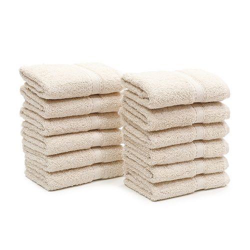 Linum Home Textiles 12-pack Textiles Turkish Cotton Sinemis Terry Washcloth Set