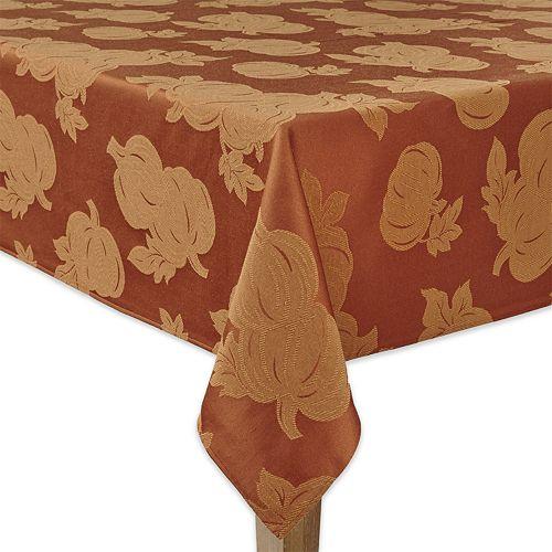 Celebrate Fall Together Pumpkin Tablecloth