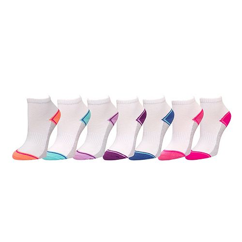 Girls 7-16 SO® 7-pack Quarter Crew Socks