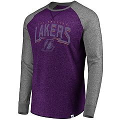 Men's Majestic Los Angeles Lakers Static Raglan Tee