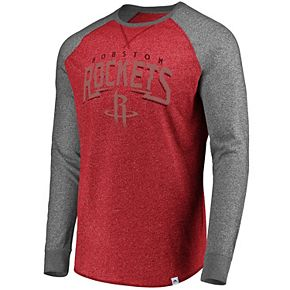 Men's Majestic Houston Rockets Static Raglan Tee