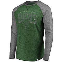 Men's Majestic Milwaukee Bucks Static Raglan Tee