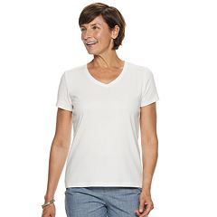 Petite Croft & Barrow® Essential V-Neck Tee