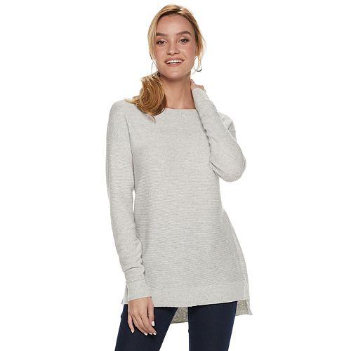 Women's ELLE™ Bow-Back Tunic Sweater
