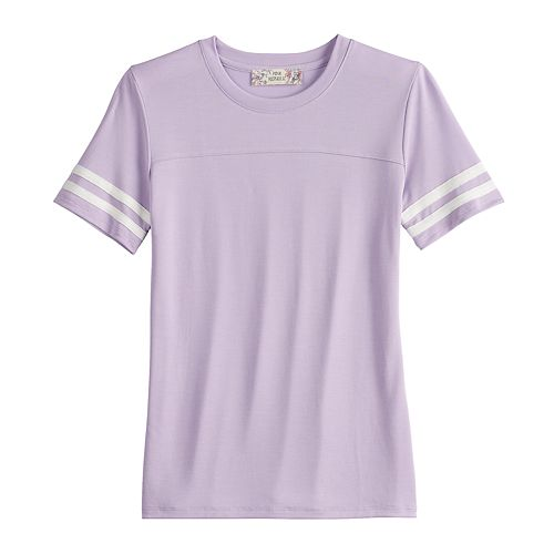 Girls 7-16 & Plus Size Pink Republic Short Sleeve Cupro Varsity Tee
