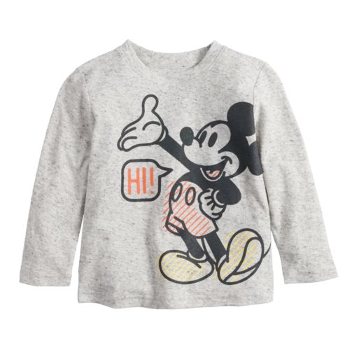 Disney S Mickey Mouse Baby Boy Hi Bye Front Back Graphic Tee By