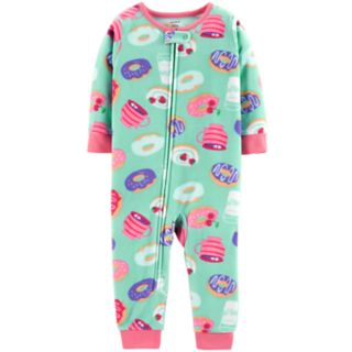 Toddler Girl Carter's Printed Microfleece Footless Pajamas