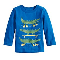 Baby Boy Jumping Beans® Front & Back Alligator Graphic Tee