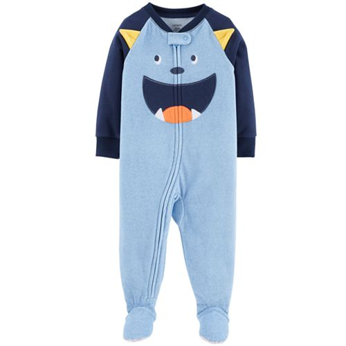 Baby Boy Microfleece Footed Pajamas