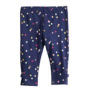 Baby Girl Jumping Beans® Glittery Dot Bow Leggings