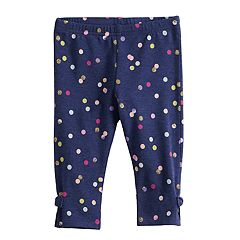 Baby Girl Jumping Beans® Glittery Dot Bow Leggings