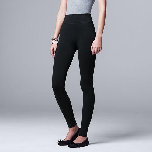 Women's Simply Vera Vera Wang Seamless Twill Leggings
