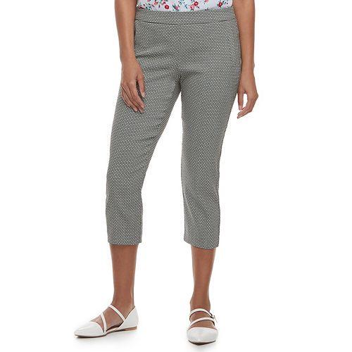 Women's ELLE™ Pull-On Back Seam Capri Pants