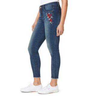 Women's Angels Embroidered Skinny Jeans