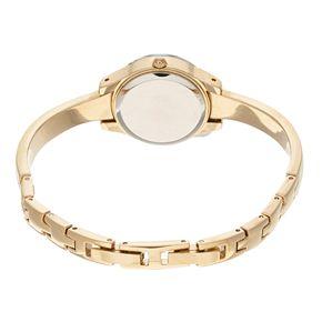 Armitron Women's Diamond Accent Half Bangle Watch - 75-5327BKGPK