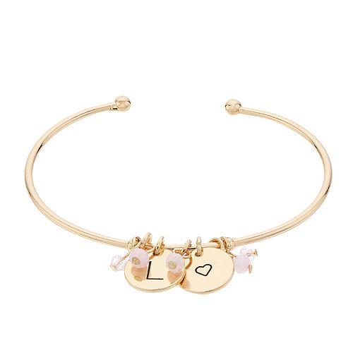 LC Lauren Conrad Initial Charm Cuff Bracelet