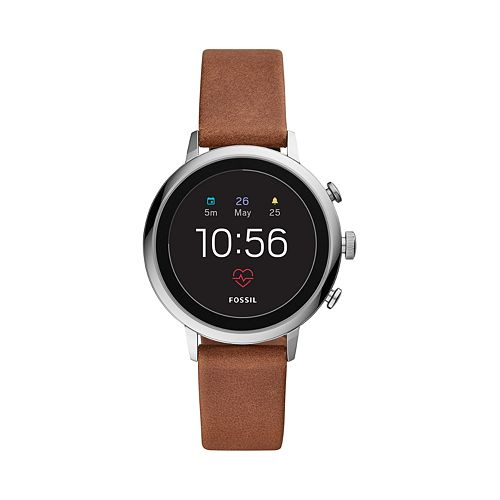 Fossil Women's Q Venture Gen 4 Leather Smart Watch - FTW6014