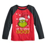 "Boys 4-12 Jumping Beans® Dr. Seuss The Grinch ""Up To Snow Good"" Raglan Graphic Tee"