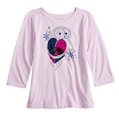 Girls 7-16 & Plus Size Mudd® Flippy Sequin Long Sleeve Top