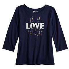 Girls 7-16 & Plus Size Mudd® Flippy Sequin Long Sleeve Top
