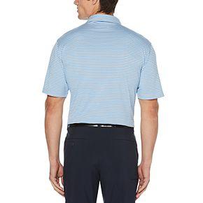 Big & Tall Grand Slam Driflow Classic-Fit Striped Performance Golf Polo