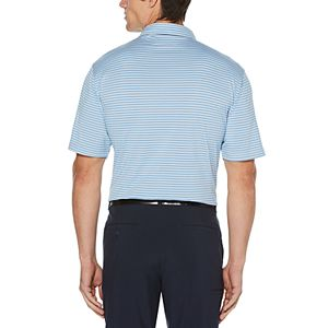 Big & Tall Grand Slam Driflow Classic-Fit Striped Performance Golf Polo