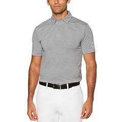 Men's Grand Slam Driflow Classic-Fit Striped Performance Golf Polo
