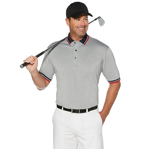 Big & Tall Grand Slam Oxford with Tipped Collar and Cuff Polo