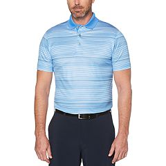 Big & Tall Grand Slam Allover Stripe Polo with Accent Pop