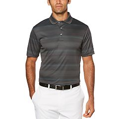 a9116ccc018 Big & Tall Grand Slam Double Texture Stripe Polo with Pop and Birdseye  Collar
