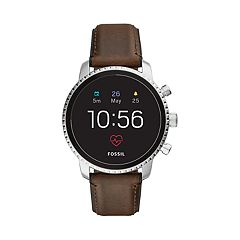 Fossil Men's Q Explorist Gen 4 Leather Smart Watch - FTW4015