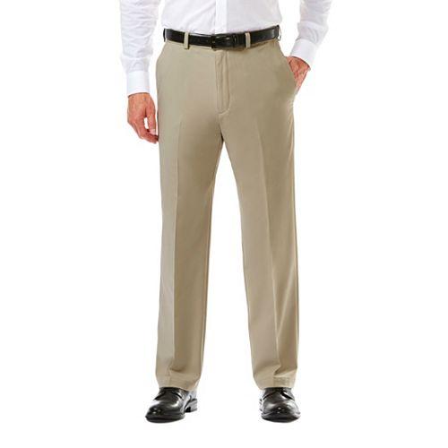 87190cba7e2 Men s Haggar® Cool 18® PRO Straight-Fit Wrinkle-Free Flat-Front Super Flex  Waist Pants