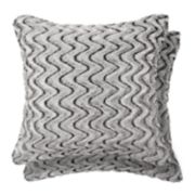 Spencer Home Decor Zoe 2-pack Faux Fur Throw Pillow Set