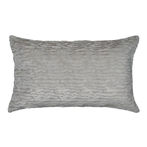 Spencer Home Decor Izze Faux Fur Oversized Oblong Throw Pillow