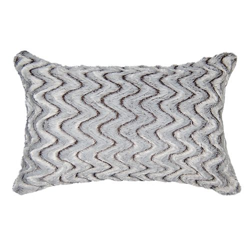 Spencer Home Decor Zoe Faux Fur Oversized Oblong Throw Pillow