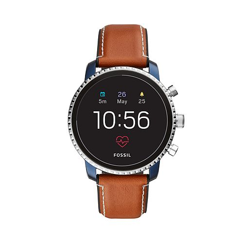 Fossil Men's Q Explorist Gen 4 Leather Smart Watch - FTW4016